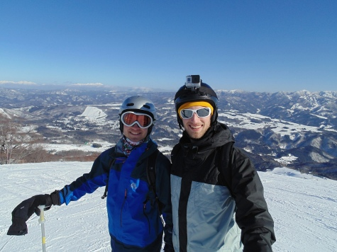 Skiing in Japan, January 2015 with my brother.