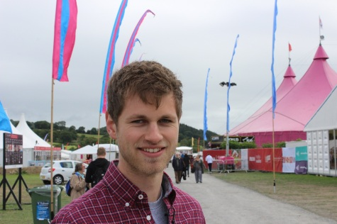 Just before a live broadcast, National Eisteddfod of Wales in Maldwyn, 2015.